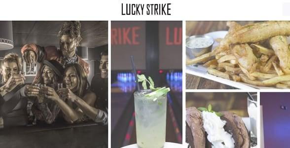 Screenshot of Lucky Strike's website
