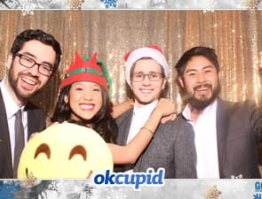 Photo of the OkCupid holiday party