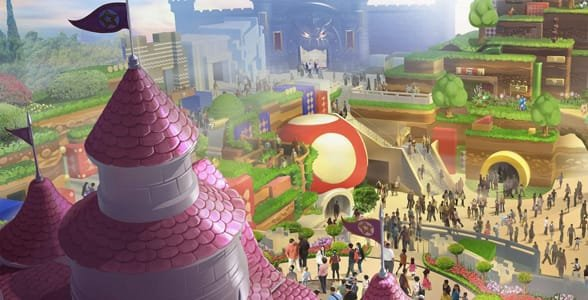 Concept art for Super Nintendo World at Universal