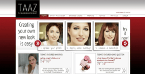 Taaz makeover mobile