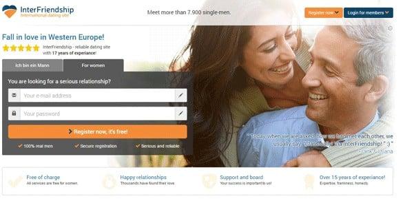 Screenshot of the Western Men homepage