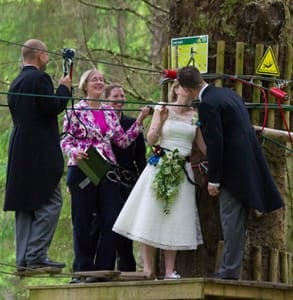 Photo of Martyn and Collete's wedding ceremony