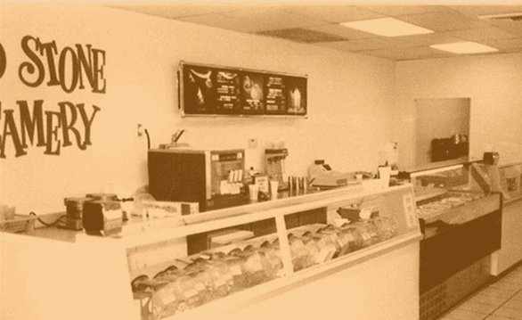 Photo of the first Cold Stone Creamery store