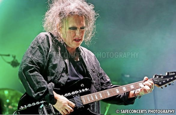 A photo of Robert Smith of The Cure
