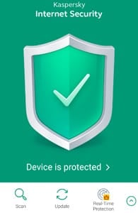 Screenshot of Kaspersky Android Security