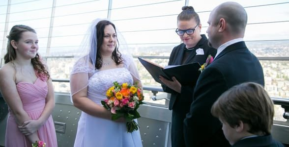 Photo of Michael and Serena's wedding at the Space Needle