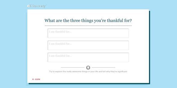 Photo of eHarmony's questionnaire
