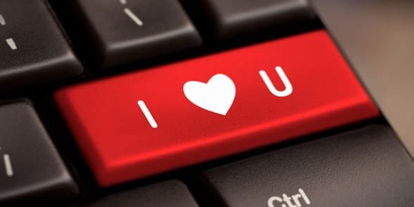 Photo of the words I Love You on a keyboard