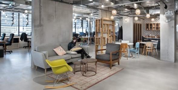 Photo of the Fiverr office in Tel Aviv