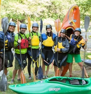 Photo of a kayaking group at the NOC