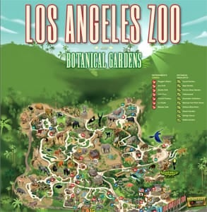 A map of the LA Zoo