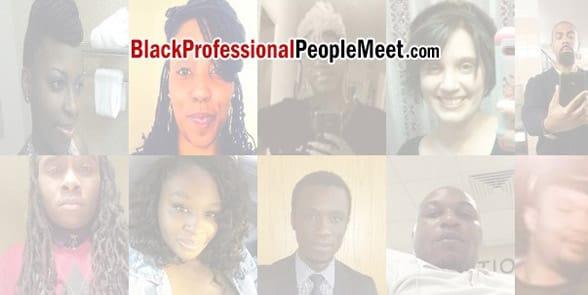 Screenshot of the BlackProfessionalPeopleMeet homepage