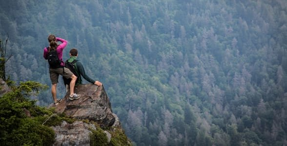 Photo of a couple hiking at the NOC