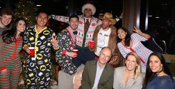 Photo of the SoCap Advertising team's holiday party