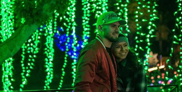 Photo of a couple at the LA Zoo Lights show