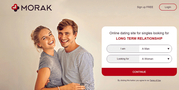 Screenshot of the Morak homepage