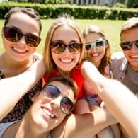 Photo of a group selfie