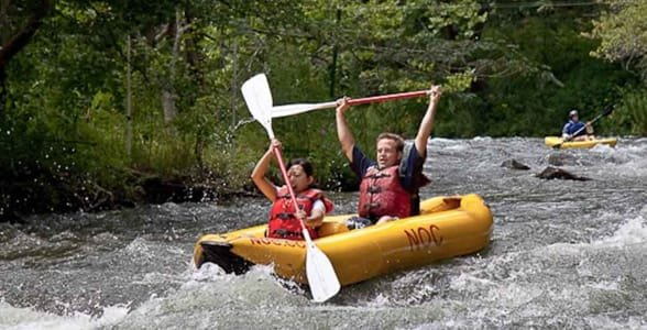 Photo of whitewater rafting on the Nantahala River