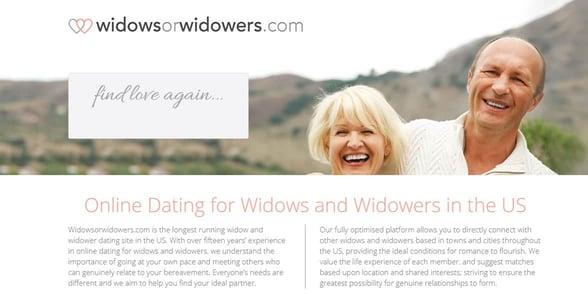 Screenshot of WidowsOrWidowers.com