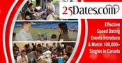 25Dates.com: Effective Speed Dating Events Introduce & Match 100,000+ Singles in Canada