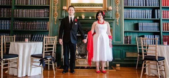 Photo of Kyle and Amy on their wedding day