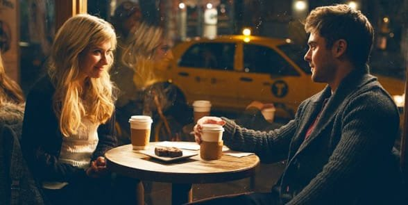 Photo of a couple on a coffee date