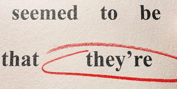 Photo of a grammar mistake