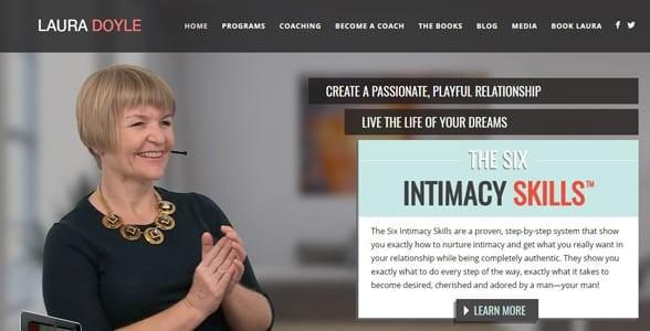 Screenshot of Laura Doyle's website