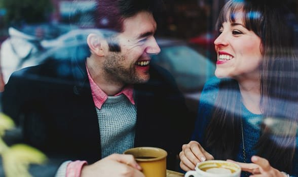 Photo of a coffee date