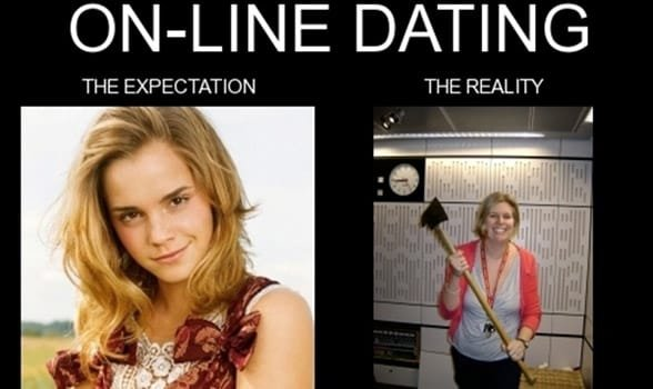 Photo of online dating expectations vs. reality