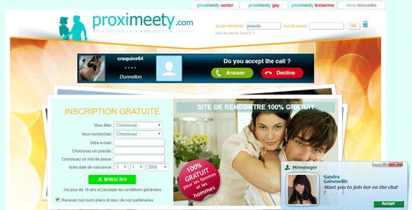 Screenshot of Proximeety's homepage
