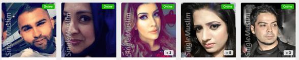 Screenshot of Single Muslim user profiles