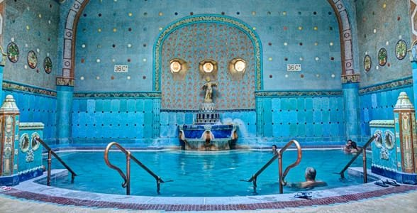 Photo of the Gellért Baths in Budapest