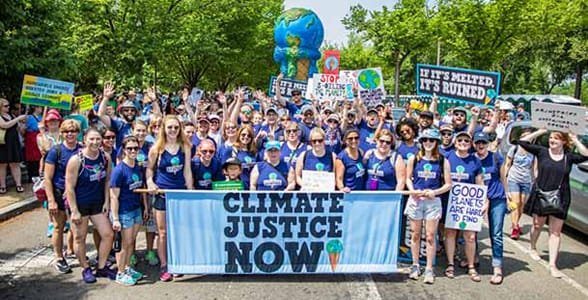 Photo of the Ben & Jerry's team marching in DC
