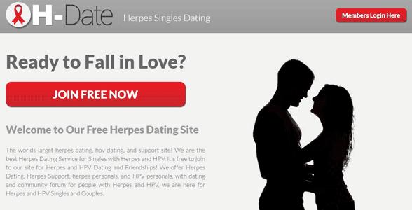 Screenshot of H-Date's homepage