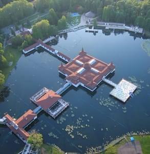 Aerial photo of Lake Hévíz