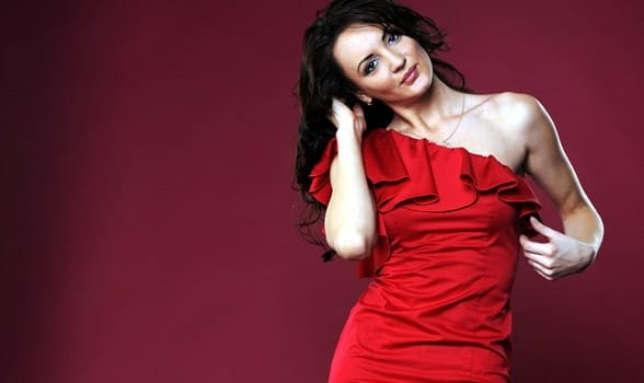 Photo of a woman wearing red