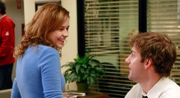 Photo of Jim and Pam from The Office