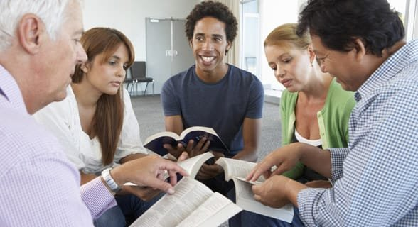 Photo of a bible study group
