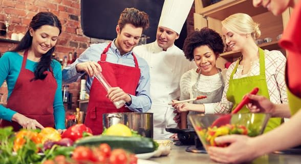 Photo of people at a cooking class