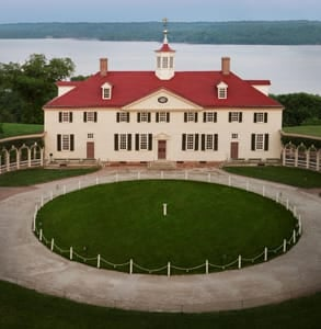 Photo of the mansion at Mount Vernon