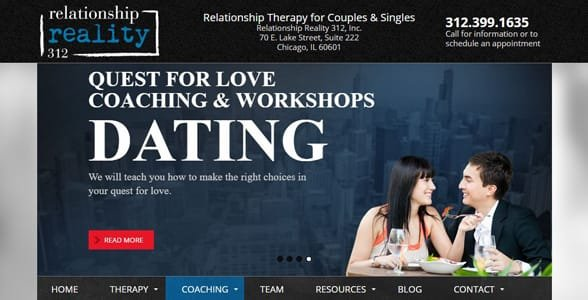 Screenshot of Relationship Reality 312's workshops page