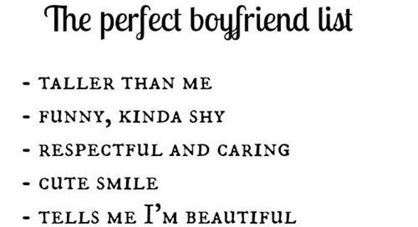 Photo of a boyfriend list