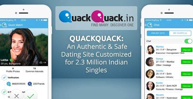 Quackquack An Authentic Dating Site For Millions Of Indian Singles