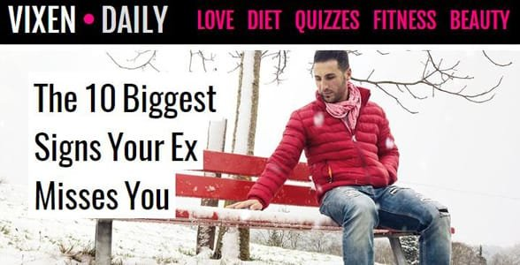 Screenshot of Vixen Daily's homepage