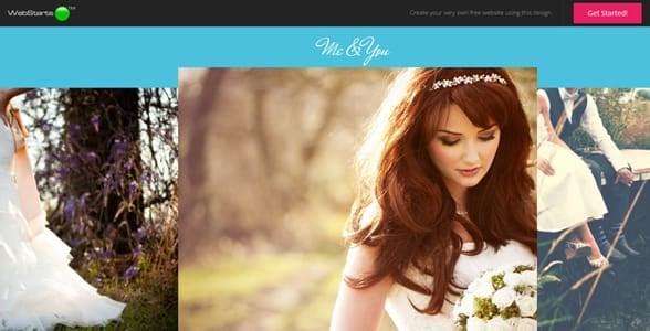 Screenshot of an example design by WebStarts