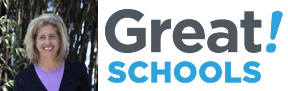 Carol Lloyd's headshot and the GreatSchools logo