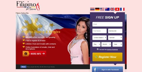 Screenshot of FilipinoKisses.com