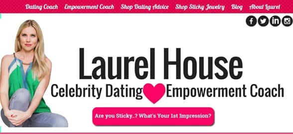 Screenshot of Laurel House's homepage