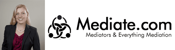 Dr. Clare Fowler's headshot and the Mediate.com logo